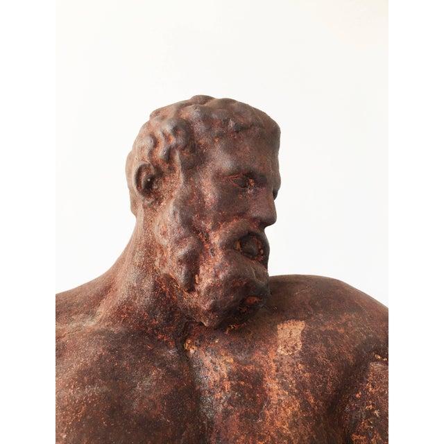 Italian Serpentine Figure of the Farnese Hercules For Sale - Image 4 of 10