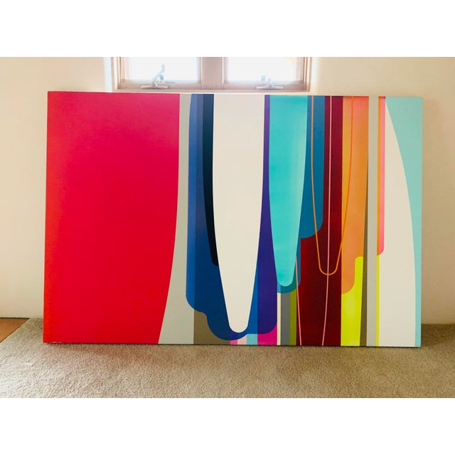 """Accelerator. By Dion Johnson. Acrylic painting on canvas. 60""""w x 40.5h made in 2011."""