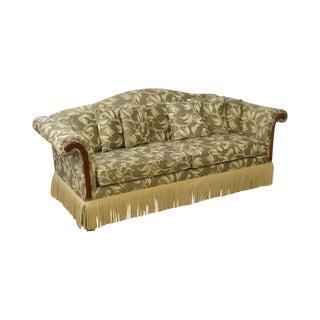 Custom Upholstered Vine & Berry Sofa W/ Fringe For Sale