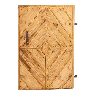 Antique Single Pine Barn Door 1840 For Sale