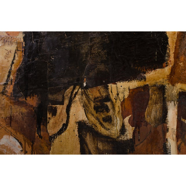 Gold Abstract Expressionist Diptych by Hilda O'Connell, 1965 For Sale - Image 8 of 8