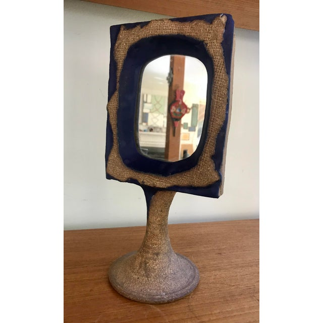 This unique stoneware vanity mirror is the perfect accent for your boho  chic home. It's - Vintage Mirror Vanity Bohemian Pedestal Table Top Chairish