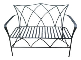 Image of Black Outdoor Benches