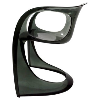 Smoked Lucite Casalino Chair by Alexander Begge For Sale
