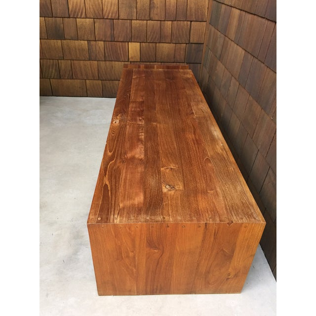 Wood 1960s Vintage Walnut Bench With Magazine Holder For Sale - Image 7 of 11