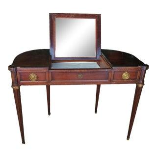1940s Hepplewhite Widdicomb Mahogany Vanity/Writing Desk For Sale