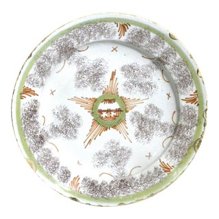Bristol Delftware Star Plate For Sale