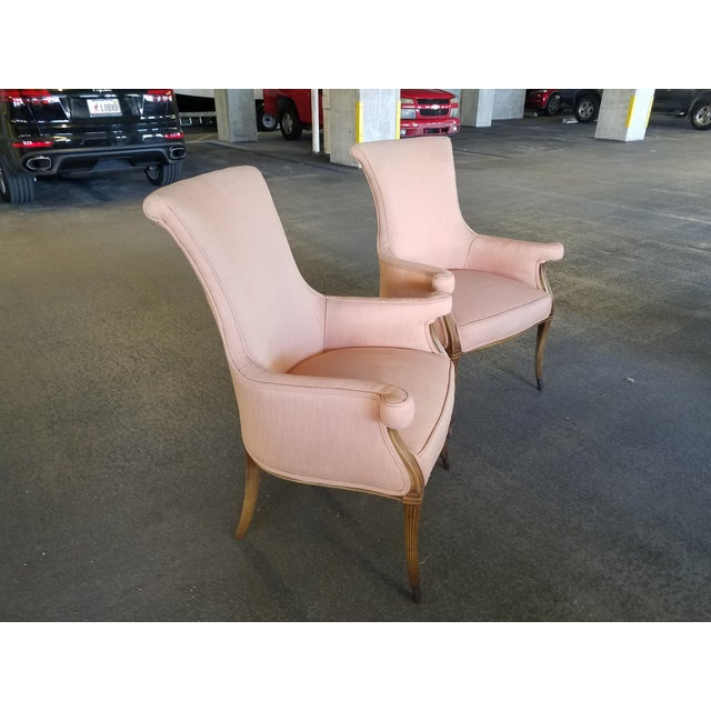 Hollywood Regency 1940s Vintage Hollywood Regency Club Chairs - A Pair For Sale - Image 3 of 10