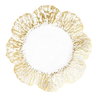 Kenneth Ludwig Chicago Rufolo Gold Glass Canape Plate For Sale