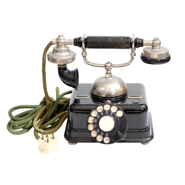 Antique European Kjobenhavns Cradle Telephone - Image 1 of 6