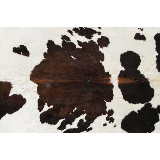 "spotted cowhide Brazil approximately 78"" length x 90"" width size + markings may vary slightly from cowhide pictured..."