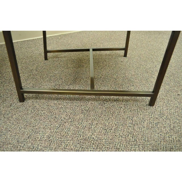 Metal 1970s Modern Upholstered Arm Chairs - a Pair For Sale - Image 7 of 10