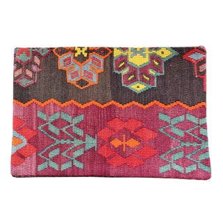 Vintage 1960s Turkish Kilim Pillow Cover For Sale