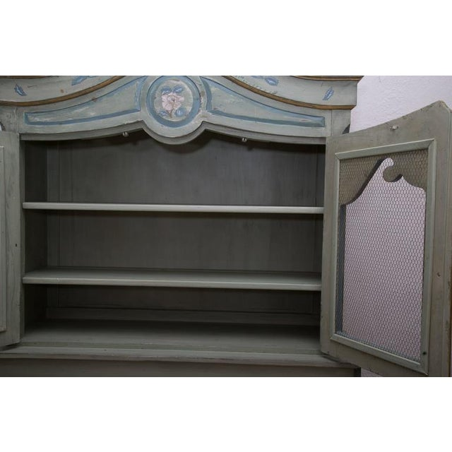 Gray French Buffet De Corps, Later Painted For Sale - Image 8 of 8