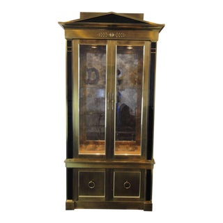 Mastercraft Brass Vitrine Cabinet For Sale