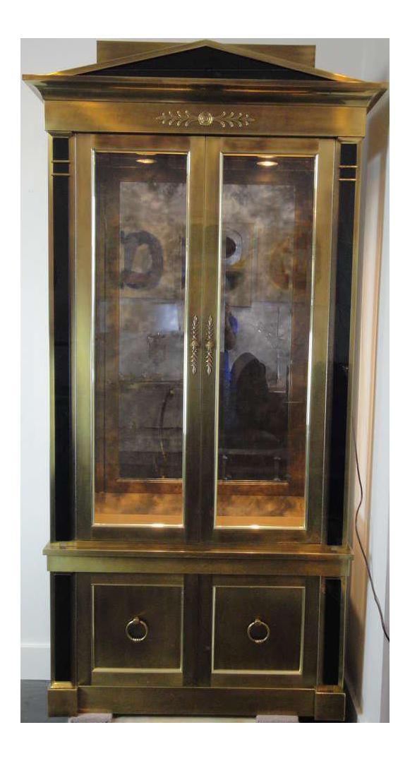 Mastercraft Brass Vitrine Cabinet For Sale