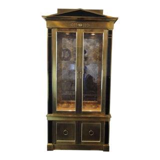 Stunning Mastercraft Brass Vitrine Cabinet