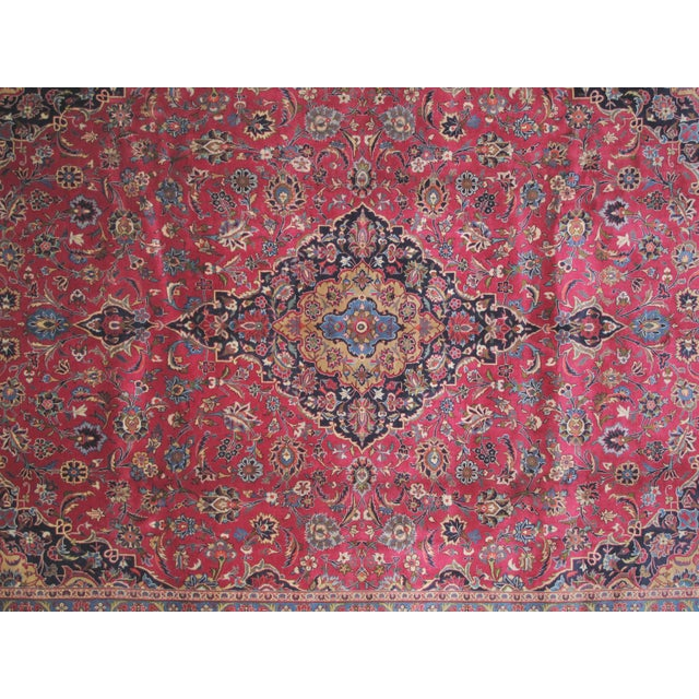 "Leon Banilivi Persian Mashad Carpet - 9'10"" X 13'2"" - Image 4 of 6"