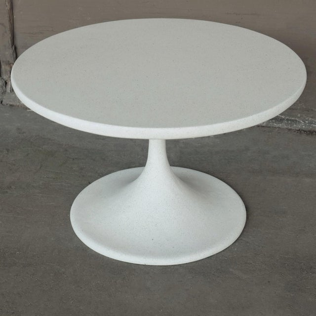 Contemporary Cast Resin 'Spindle' Side Table, White Stone Finish by Zachary A. Design For Sale - Image 3 of 7