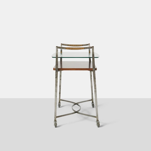 Mid-Century Modern Two Tier Bar Cart by Dominique For Sale - Image 3 of 7