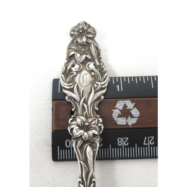 Art Nouveau Sterling Silver Sugar Shell Spoon For Sale - Image 12 of 13