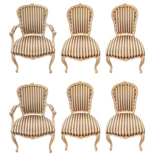 French Style Dining Chairs - Set of 4 For Sale