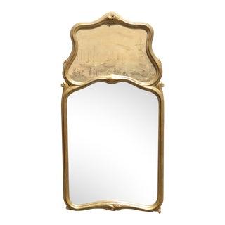 Vintage Trumeau Wall Mantle Mirror