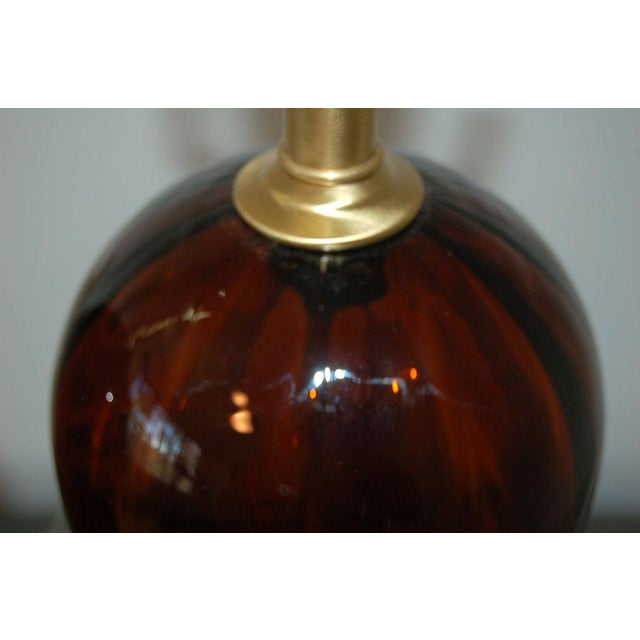 1950s Vintage Italian Glass Teardrop Table Lamps For Sale - Image 5 of 9