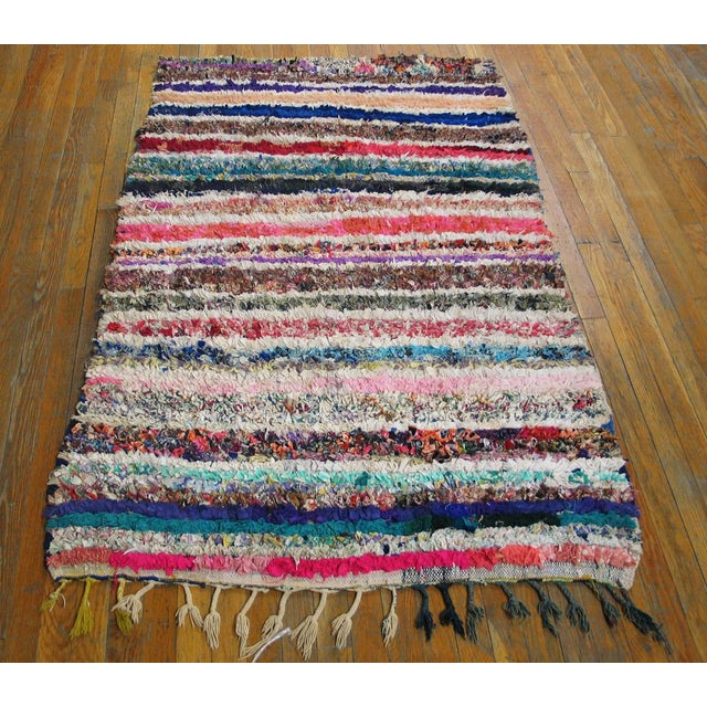"""Traditional Moroccan Boucherouitte Rug - 3'6"""" x 5'6"""" - Image 2 of 4"""