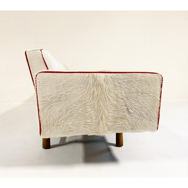 A Calvin Klein western shirt inspired the look of this one-of-a-kind, vintage 1953 Edward Wormley Sofa. The sofa was...