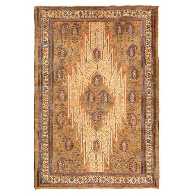 Exceptional antique 19th century Hamadan Mazlagan rug. Contact dealer Excellent condition.