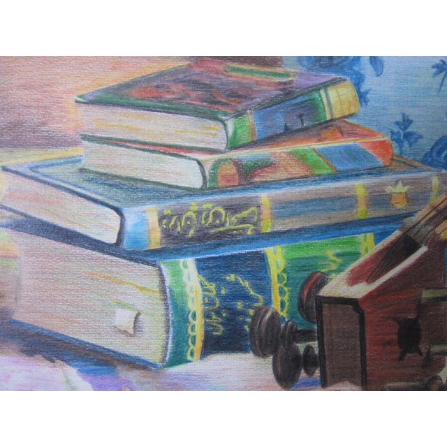 Eastern Culture Realism Colored Pencil Painting - Image 6 of 11
