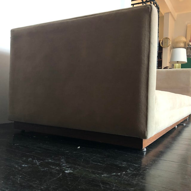 1960s Mueller Widdicomb Plinth Base Sofa For Sale - Image 12 of 13