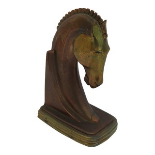 Art Deco Trojan Head Bookend