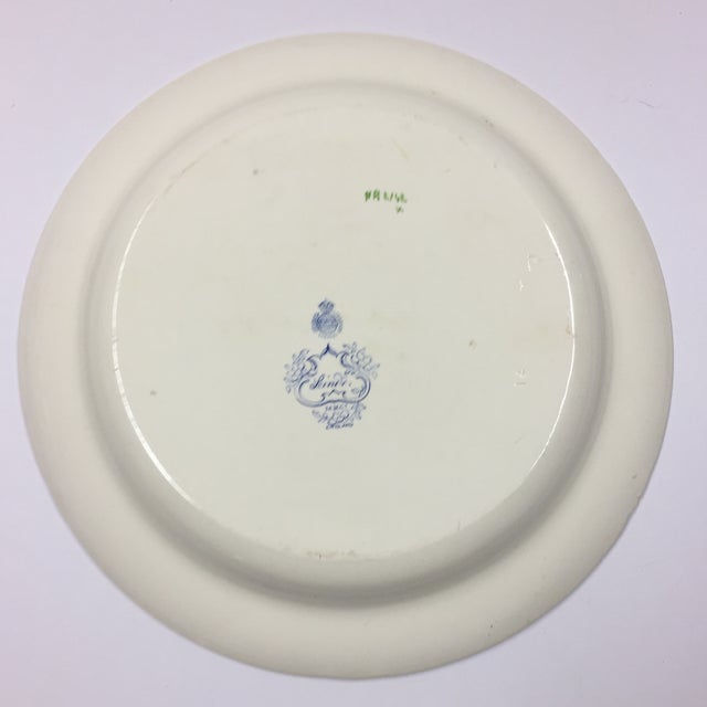 Lovely antique Minton & Company, England, serving charger or platter, c. 1860. It's transfer ware floral, oriental pattern...