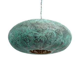Verdigris Copper Ufo Lantern Medium For Sale