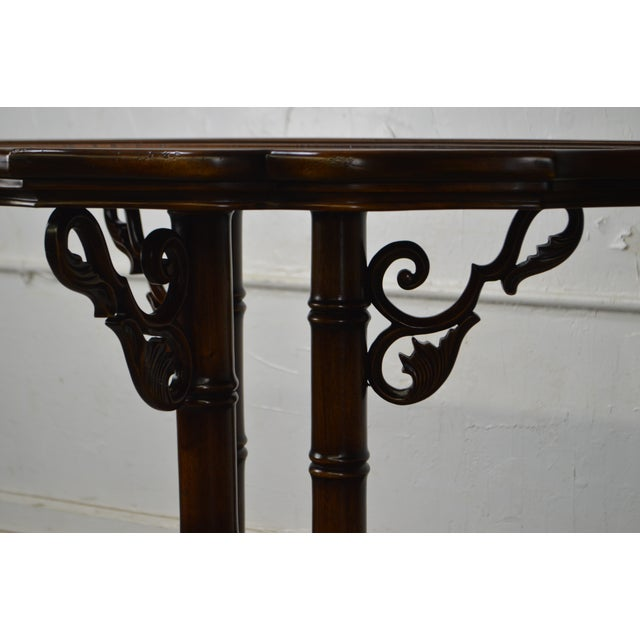 William IV William IV/Regency Solid Mahogany Scalloped Top Demilune Pedestal Side Table For Sale - Image 3 of 13