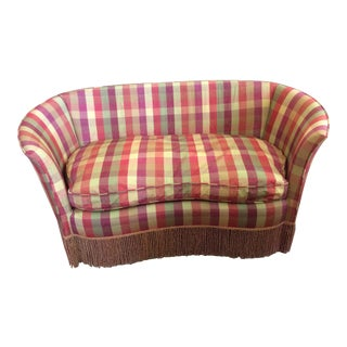 Down Cushioned Settee For Sale