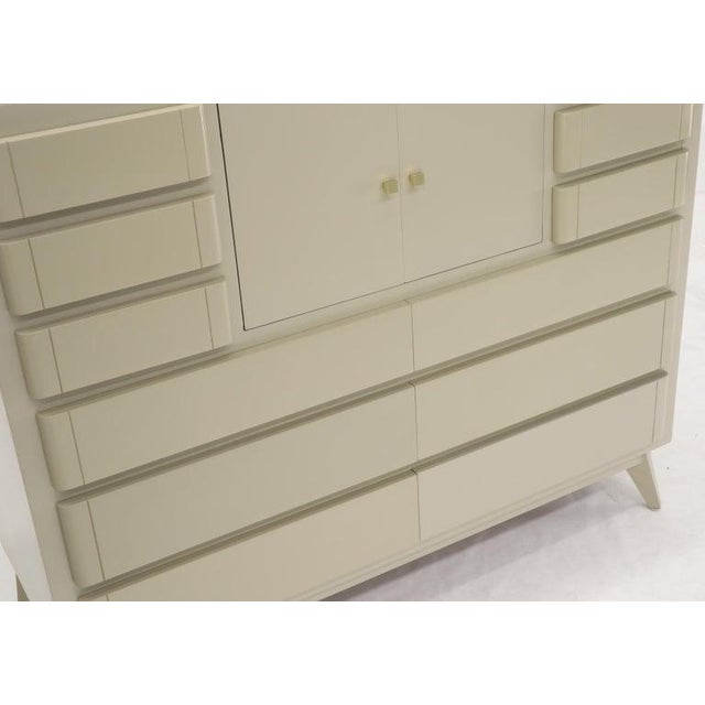1970s Multiple 12 Drawers Two Door Compartment Cube Shape High Wide Chest Dresser For Sale - Image 5 of 13
