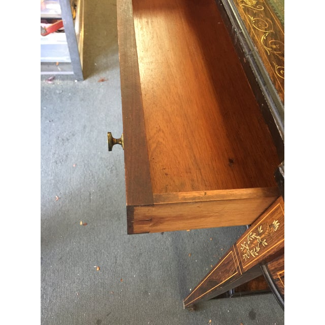 Inlaid Edwardian Desk For Sale In San Francisco - Image 6 of 13
