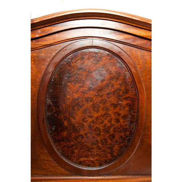 Wood French Hand Carved Walnut / Burl Walnut Single Beds - a Pair For Sale - Image 7 of 9