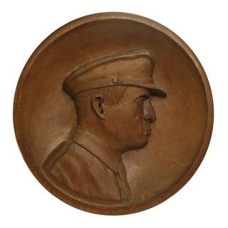 Handmade General MacArthur Wooden Plaque For Sale