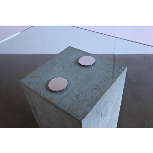 1970s 1970s Sergio & Giorgio Saporiti Concrete and Glass Dining Table For Sale - Image 5 of 13