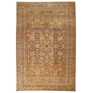 Antique Oversize 19th Century Persian Hadji Jalili Tabriz Carpet For Sale