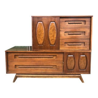 1960s Mid Century Dresser by Young Mfg Co-a Pair For Sale