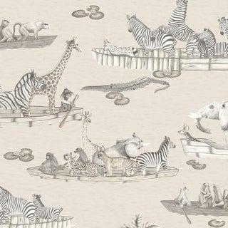 Cole & Son Zambezi Wallpaper Roll - Neutral For Sale