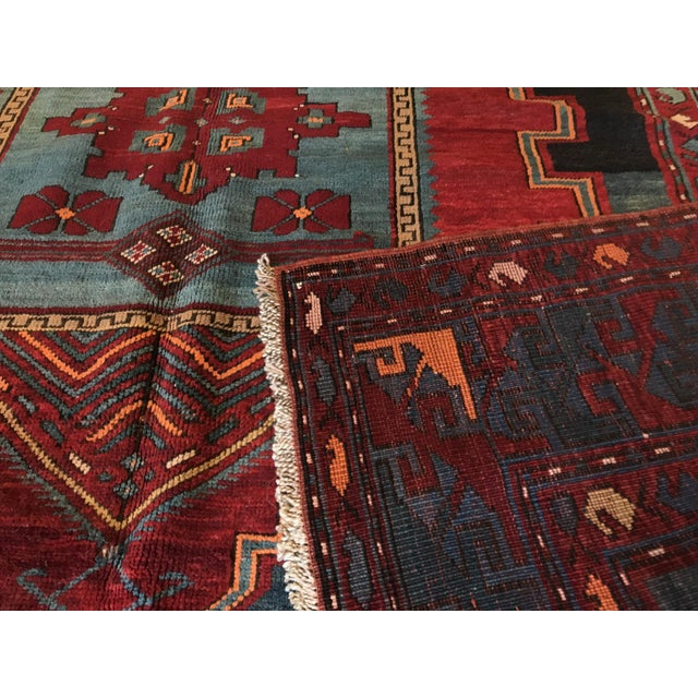 Textile Antique Turkish Kazak Rug - 5′7″ × 8′1″ For Sale - Image 7 of 9