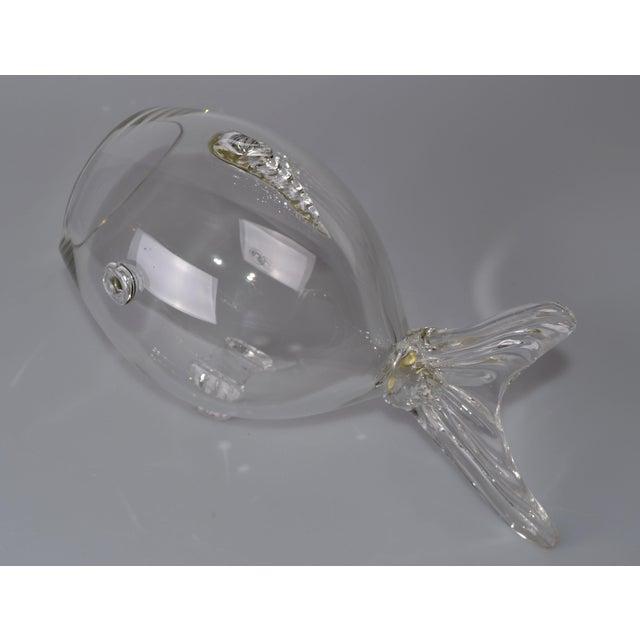 Blenko Handblown Glass Fish Candy Bowl - Image 6 of 9