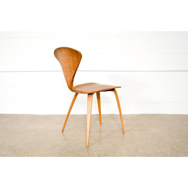 Mid Century Norman Cherner Molded Plywood Side Chair For Sale In Detroit - Image 6 of 11