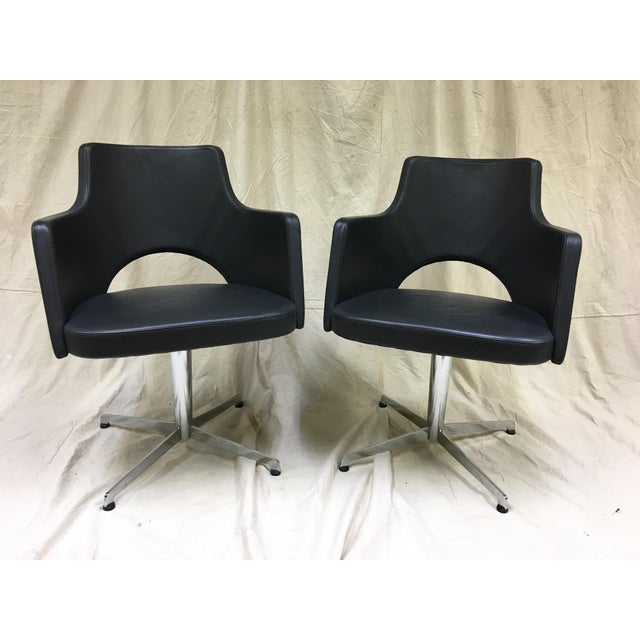 Silver Lammhults Cortina Star Base Swivel Chairs - a Pair For Sale - Image 8 of 8